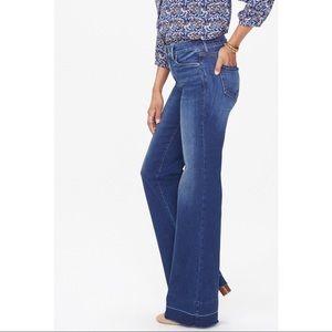 NYDJ NWT Petite Release Hem Wide Leg Trouser Jeans